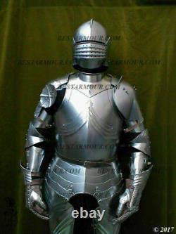 15ct Medieval Armor Gothic Full Suit Armor Knight Sallet Helmet Halloween Gift