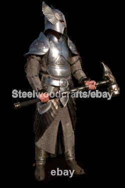 18 Gauge Steel Medieval Celtic Prince Knight Full Body Armor Suit Elven Armor