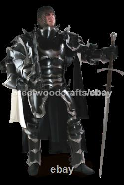 18 Gauge Steel Medieval Dark Paladin Knight Full Body Armor Suit Elven Armor