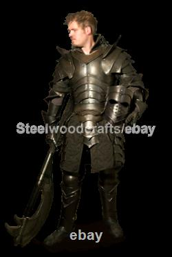 18 Gauge Steel Medieval Edward Full Suit OF Armor Knight Fighting Costume