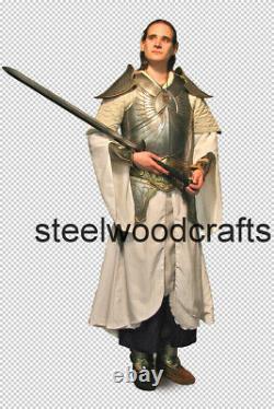 18 Gauge Steel Medieval Knight Elf Full Suit Of Armor Cuirass Bracers Greaves