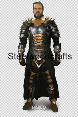 18 Gauge Steel Medieval Knight Prince Darkelve Full Suit Of Armor Cuirass