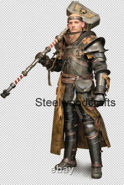 18 Gauge Steel Medieval Knight Sigmar priest Full Suit Of Armor Cuirass
