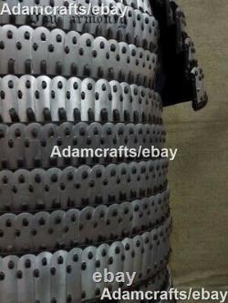 1mm Steel Medieval Samurai Knight Lamellar Armor Scale Full Suit Of Armor