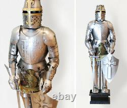 4 Handmade Medieval Knight Suit of Armor Gift Table Decor Statue Miniature 18''H
