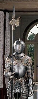 72 Medieval Italian Armor Suit Halberd Sculpture 16th Century Knight Life-size