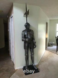 72 Medieval Italian Armor Suit Halberd Sculpture Knight Life-size