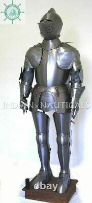 Antique Medieval Knight Wearable Suit Of Armor Crusader Combat Full Body Armor