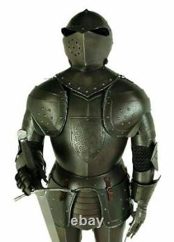 Antique Medieval Knight Wearable Suit Of Armor Crusader Combat Full Body Armour