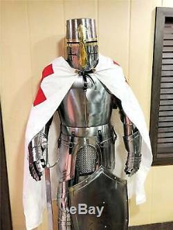 Antique Medieval Wearable Knight Crusador Full Suit of Armour Collectibles Armor