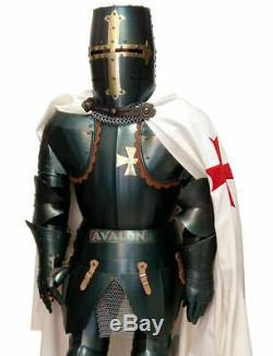 Antique Medieval Wearable Knight Crusador Templar Full Suit Of Armor