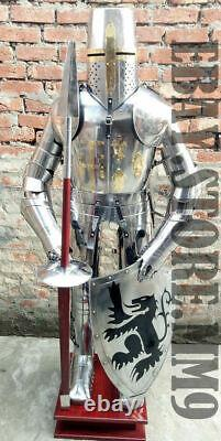 Armor 15th Century Combat Medieval Knight Suit of Full Body Armour shield Lance