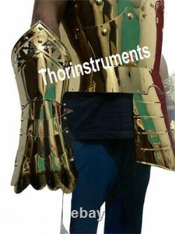 Armor Rust Free Stainless Steel Medieval Templar Knight half Suit