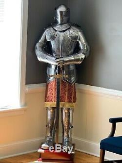 Armour 6 Feet Medieval Knight Crusader Full Suit Of Armor Collectible Costume