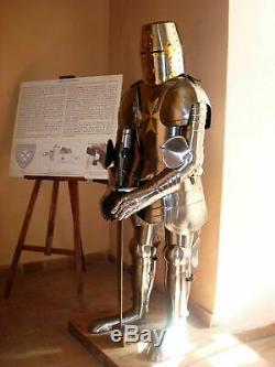 Armour Medieval Full Body Armour Knight Suit of Armor Medieval Combat With Stand