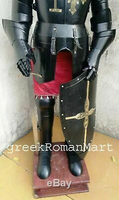Armour Medieval Knight Crusader Full Suit Of Armor Collectible Interior Combat