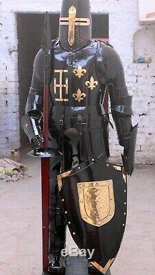 Armour Medieval Wearable Knight Crusader Full Suit Of Armor Collectible Hallowee