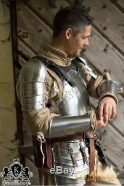 Armour Suit Brown Mercenary Larp Armor Knight Collectible Medieval Steel Replica