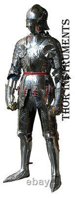 Armour Wearable Knight Crusader Full Suit of Armor Full Body Armor