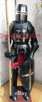 Black Ant Medieval Knight Suit of Armor 17th Century Combat Full Body Armour