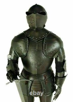 Black Knight Suit of Armour Steel Full Size Body Armor Antiqued Finish full body