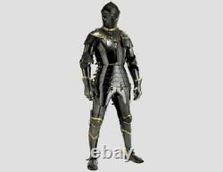 Black Suit Of Armor Combat Full Body Armor Medieval Knight
