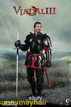 COOMODEL 1/6 Alloy Armor Medieval Knight Vlad ALIII Black Suit Figure NS010