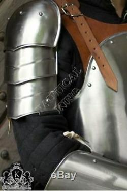 Collectible Medieval Steel Armour Suit Brown Mercenary Larp Armor Knight Replica