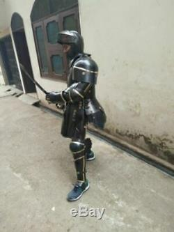 Combat Full Body Armour Black Knight Wearable Medieval Knight Suit of Armor