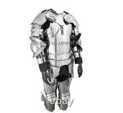 Complete Gothic Cuirass Armor Suit 18 Gauge Steel Knight Body Armor Larp Costume