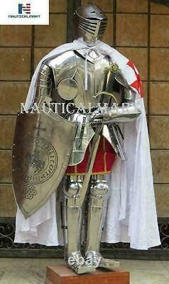 Crusader Medieval Wearable Suit Knight Templar Sword Full Body of Armor Costume