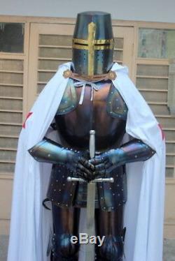 Custom Medieval Knight Wearable Suit Of Armor Crusader Templar Full Body Armour