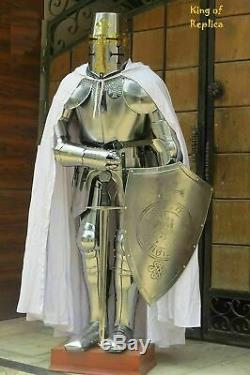 FULL BODY 15th CENTURY ARMOR MEDIEVAL WEARABLE SUIT OF KNIGHT CRUSADER REPLICA