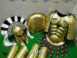 Full Body Armor Templar Crusader Combat Medieval Knight Suit Corinthian Helmet