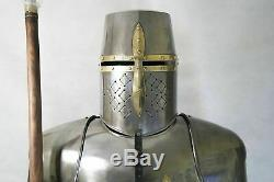 Full Size 6 Feet Knights Templar Suit Of Armour Medieval Roman Armor Statue gift