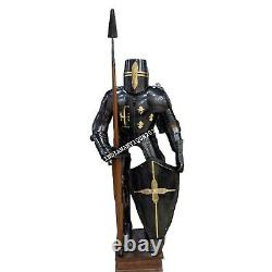 Full Suit of Armor Medieval Dark Knight Wearable Halloween Costume