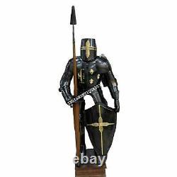 Full Suit of Armor Medieval Dark Knight Wearable Halloween Costume 8703