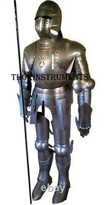 Full Suit of Armor Wearable Medieval Knight Steel Costume