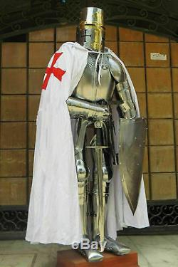 Full Suit of Armour Medieval Wearable Knight Crusader Armor Costume