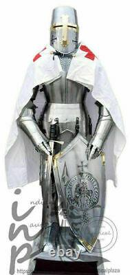 Fully Wearable Medieval Knight Suit Of Templar Armor Combat Full Body Armour