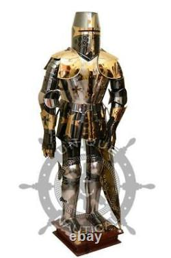 Fully functional Medieval Stainless Steel knight Full Suit of Armor Wearable