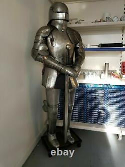Genuine Medieval Knight Suit of Templar With Sword Combat Full Body Armour Stand