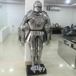 Gothic Functional Plate Knight Suit Of Armor, Wearable Halloween Costume G
