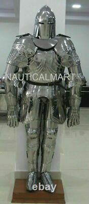 Gothic Medieval Knight Wearable Suit Of Armor Crusader Full Body Armour Costume