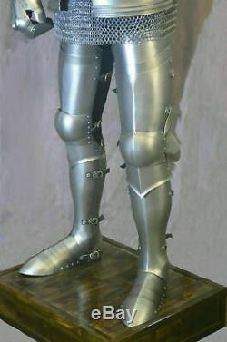 Gothic Medieval Knight Wearable Suit Of Armor Crusader Full Body Armour Shield