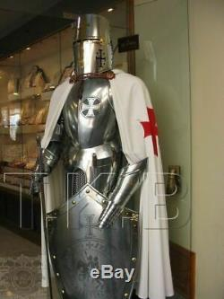 HALLOWEEN Medieval Knight Suit Of Armor Templar Combat Full Body Armour Stand