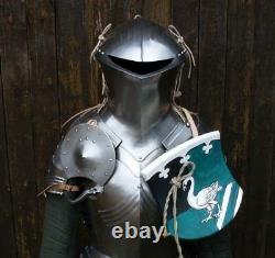 HMB Medieval Knight Jousting Half Body Armor Suit Cuirass/Pauldrons/Helmet