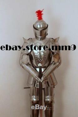 Halloween 18 Gauge Medieval Combat Templar Knight Full Body Armour Suit Reenactm