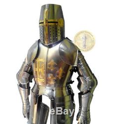 Halloween Medieval Knight Suit Of Armor Combat Full Body Armour Suit With Stand