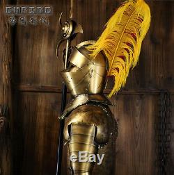 Hand-Made Iron European Medieval Crusader Knight in Suit of Armor 6.5